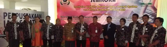 Semiloka dan Pelantikan Ketua Forum Perpustakaan Perguruan Tinggi Islam (FPPTI) Jawa Tengah Periode 2015-2019 Bapak Wiji Suwarno, S.PdI, S.IPI, M.Hum.