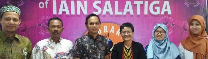 Studi Banding Tim Perpustakaan Politeknik Keselamatan Transportasi Jalan PKTJ) Tegal di Perpustakaan IAIN Salatiga, 25 April 2019