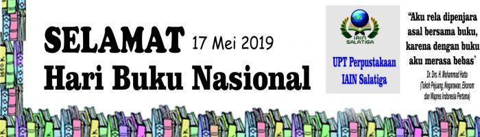 Selamat Hari Buku Nasional, 17 Mei 2019